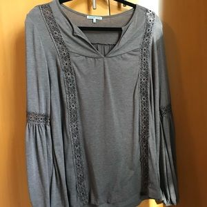 Charlotte russe Grey toned mauve loose top